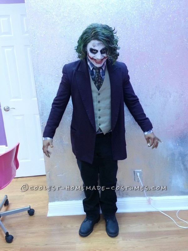 Cool Homemade Joker Halloween Costume - 1
