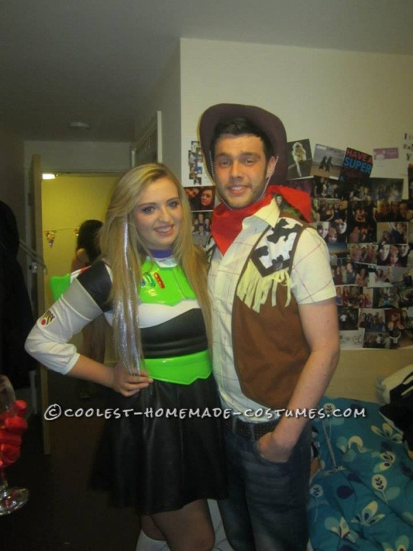 Coolest Woody and Buzz Couple Homemade Costume