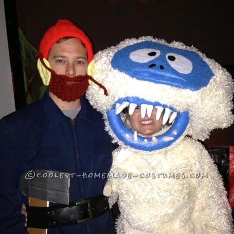 Yukon Cornelius and the Bumble Homemade Couple Costume