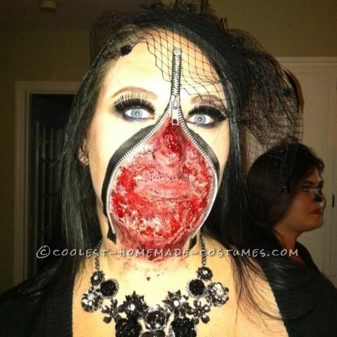 Scary Zipper Face Costume