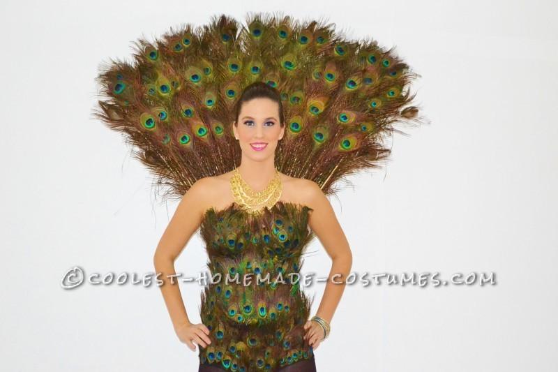 The Best Ladies Proud Peacock Costume!