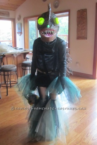 Ferocious Female Angler Fish Costume DIY for an 11-Year-Old