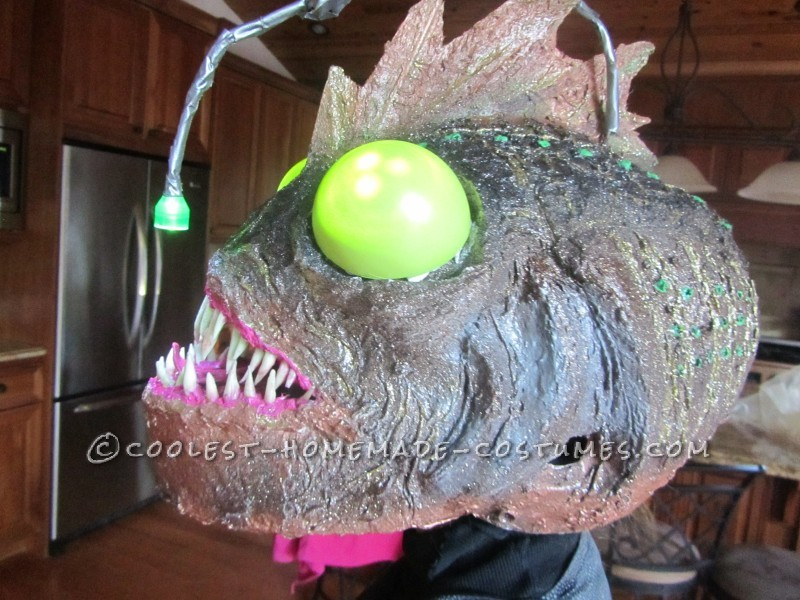 Ferocious Female Angler Fish Costume Diy For An 11 Year Old