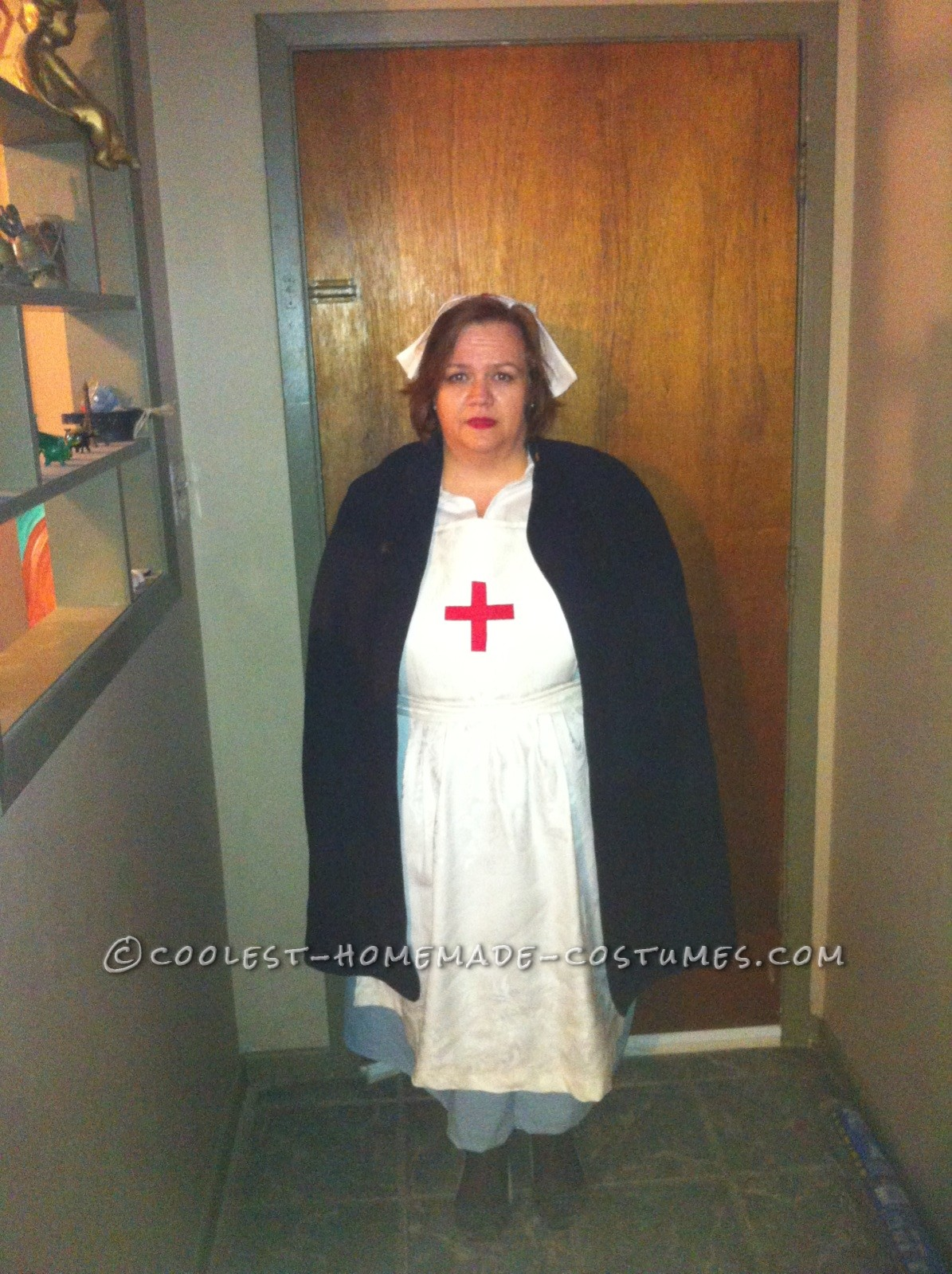 Homemade 1920's Nurse Costume for Office Halloween Party