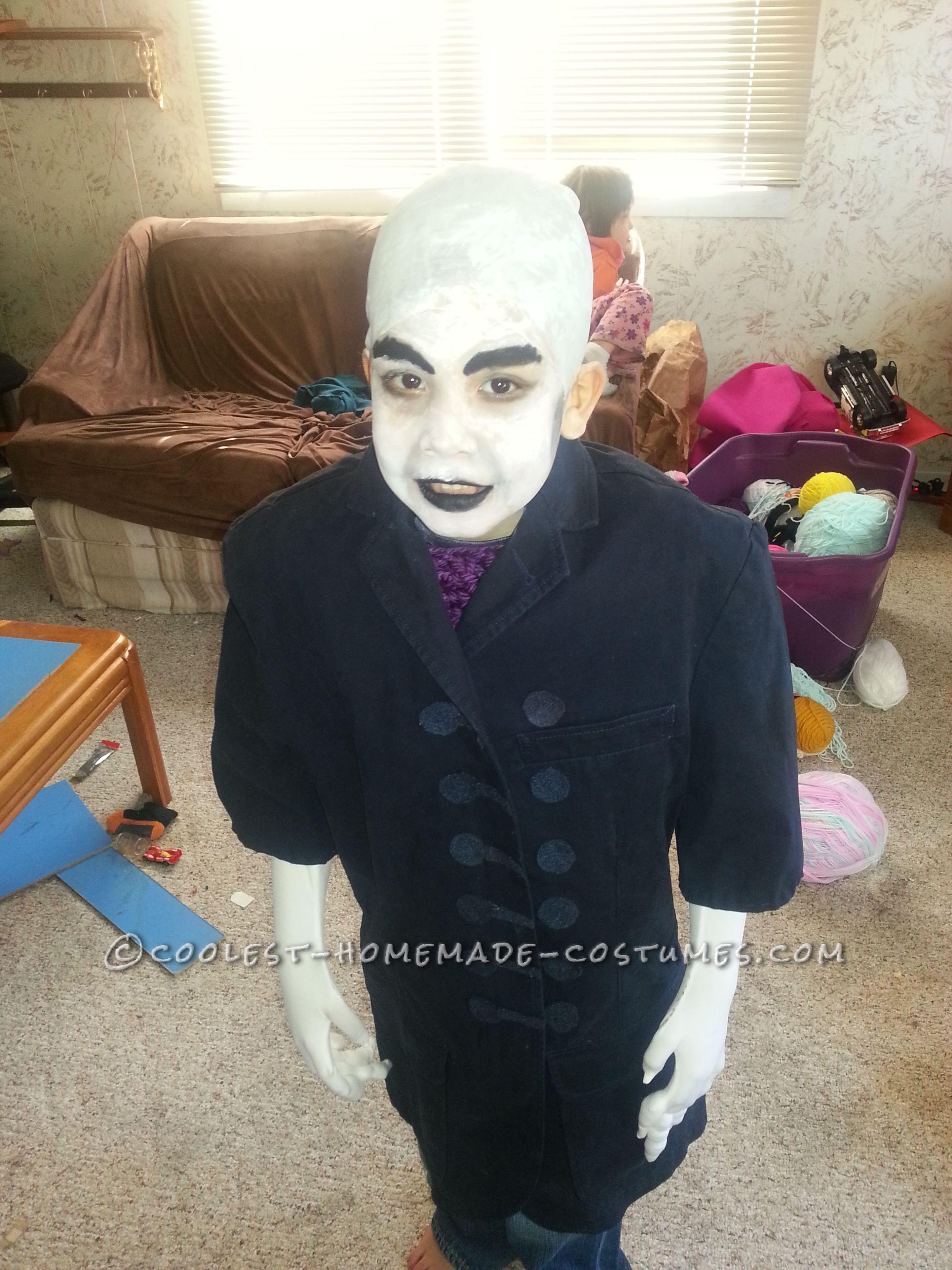 Nosferatu: Scary Homemade 6 Year Old Vampire Costume