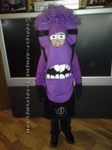 Coolest Purple Minion Costume for a Kid