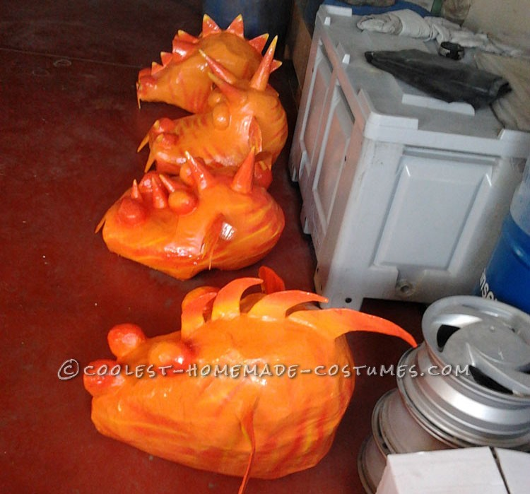 Dragon Head Costume Made with Paper Mache