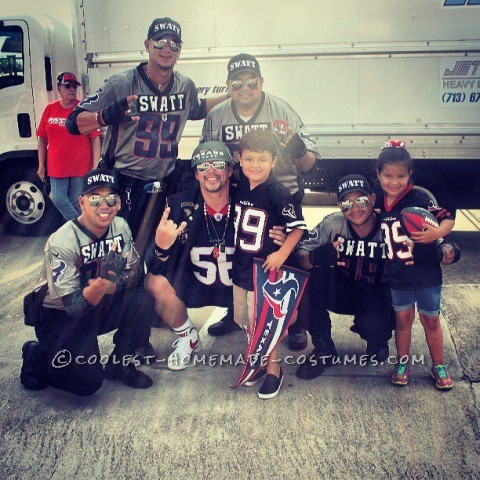 Six Year Old Dressed up as Houston Texan's Super Fan - General