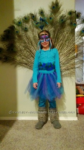 Peacock Costume Designed by a 7 Year Old Girl