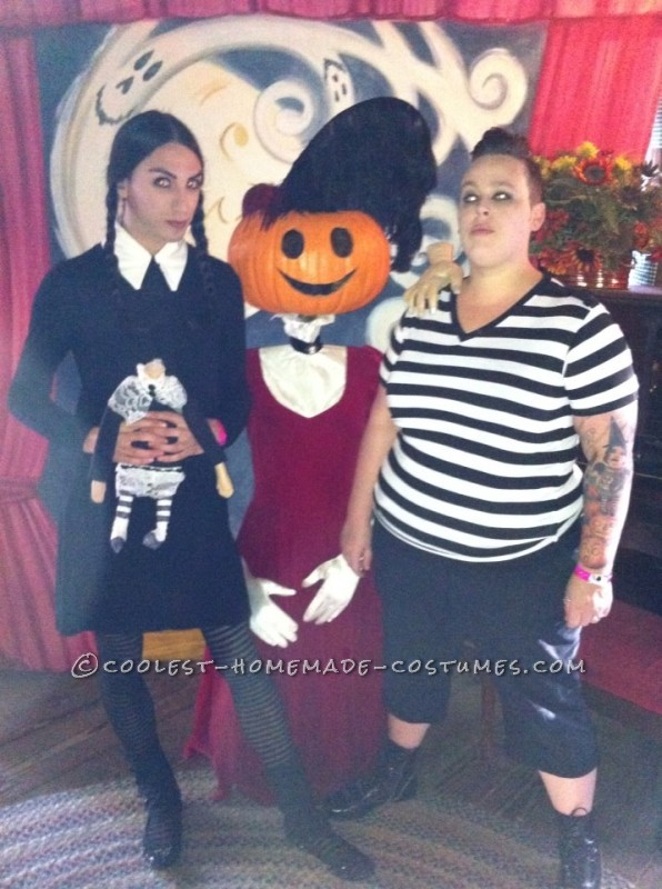 Gender-Swapped Wednesday and Pugsley Addams Couple Costume