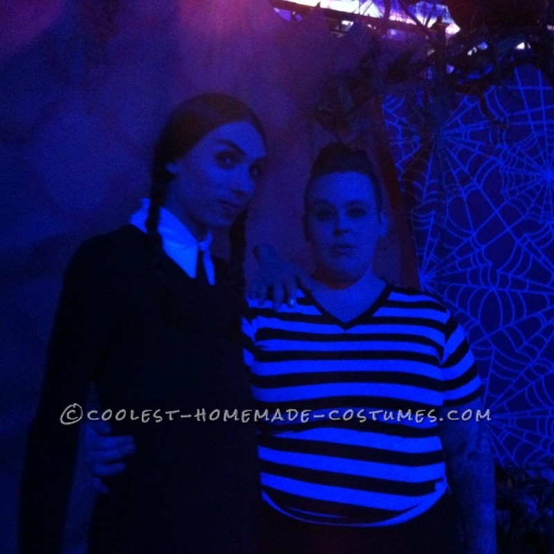 Gender-Swapped Wednesday and Pugsley Addams Couple Costume - 3