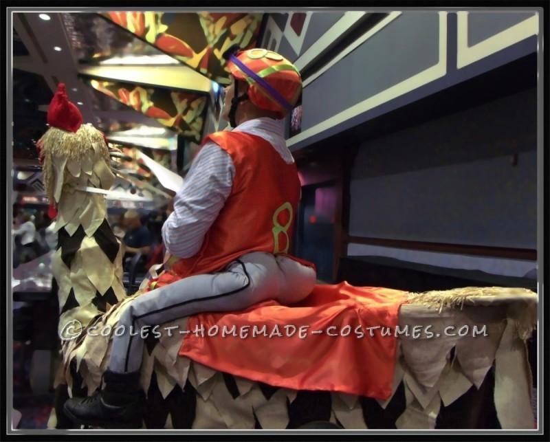 Homemade Chicken Jockey Costume - 3