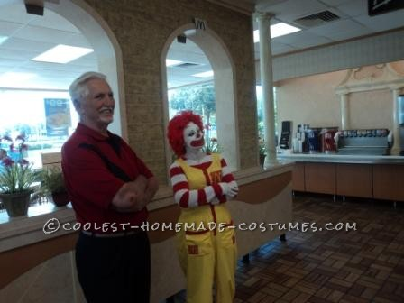 Fun Homemade Ronald McDonald Costume