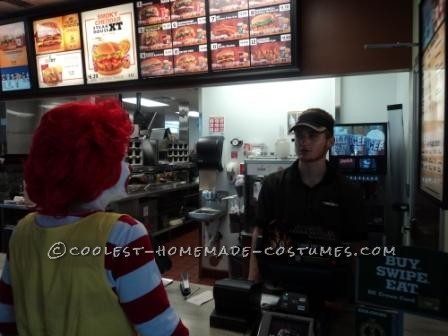 Fun Homemade Ronald McDonald Costume - 4