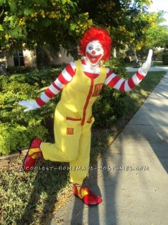 Fun Homemade Ronald McDonald Costume - 1