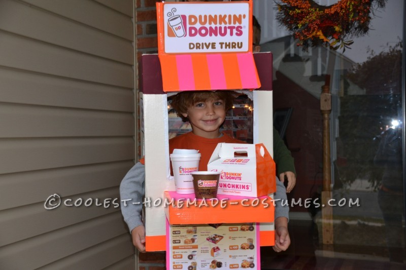 Coolest Homemade Dunkin' Donuts Drive Thru Costume