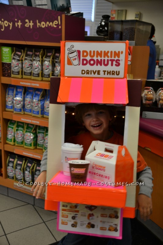 Coolest Homemade Dunkin' Donuts Drive Thru Costume - 3