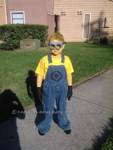 Simple Minion Costume with Real Safety Goggles