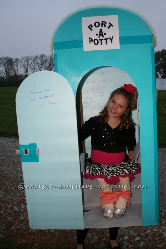 Cool Port-A-Potty Halloween Costume