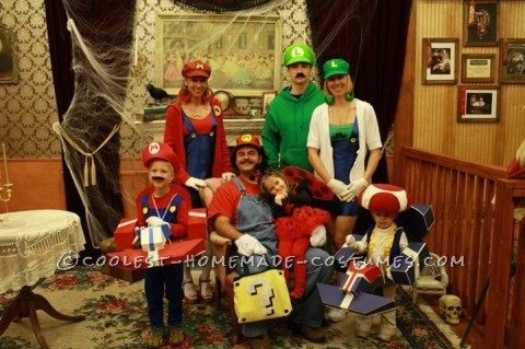 Coolest Mario Kart Family Halloween Costume