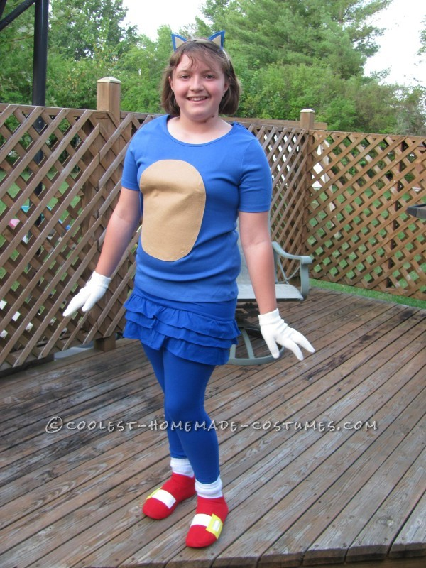 Girly Sonic the Hedgehog Costume
