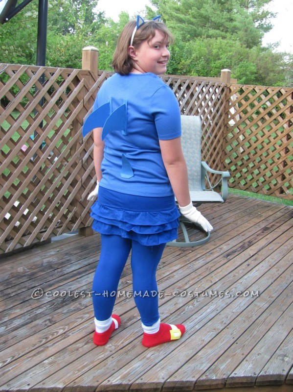 Girly Sonic the Hedgehog Costume - 1