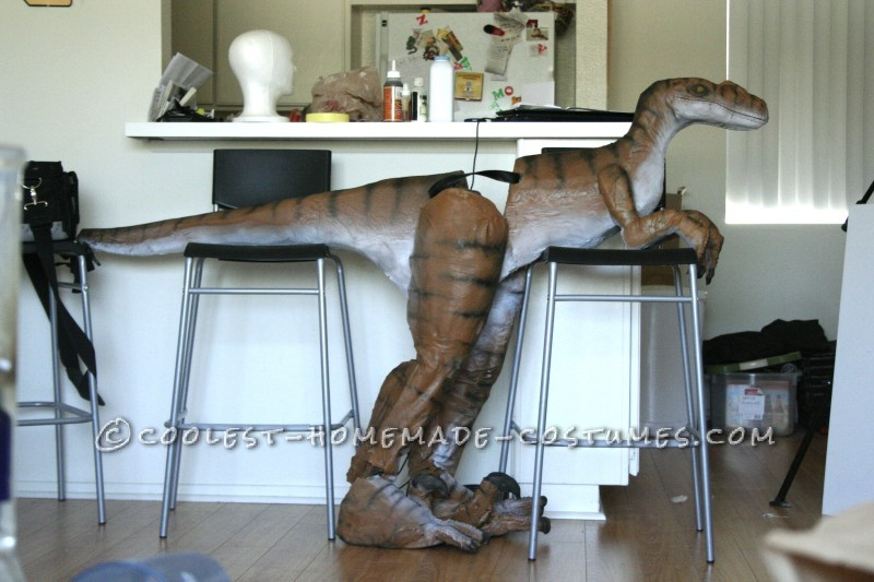 Homemade Jesus Riding a Raptor Illusion Costume