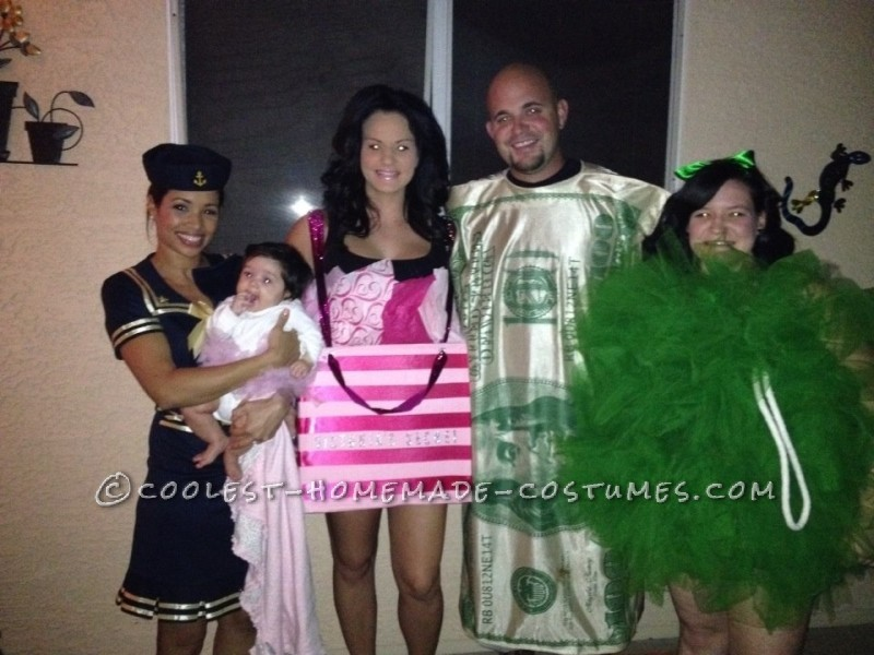 Sailor, Ballerina, Victoria's Secret Bag, $100 Bill, and a Loofah!