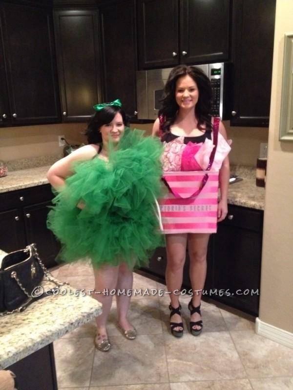 Loofah and Victoria's Secret Bag