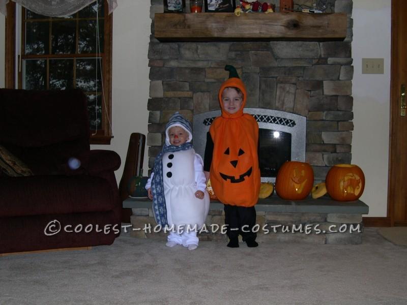 Our Little Snowman & Pumpkin 2004