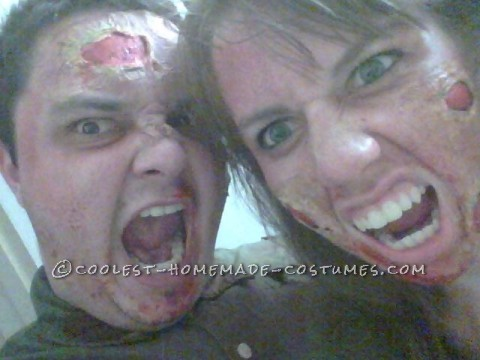 A Disgustingly Cute Zombie Couple Costume