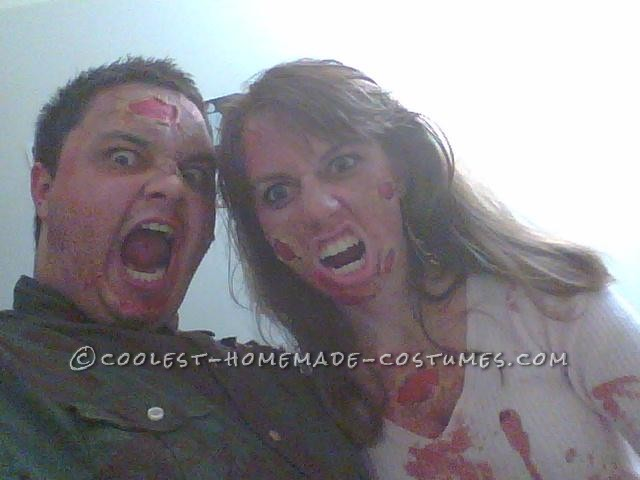 A Disgustingly Cute Zombie Couple Costume - 1