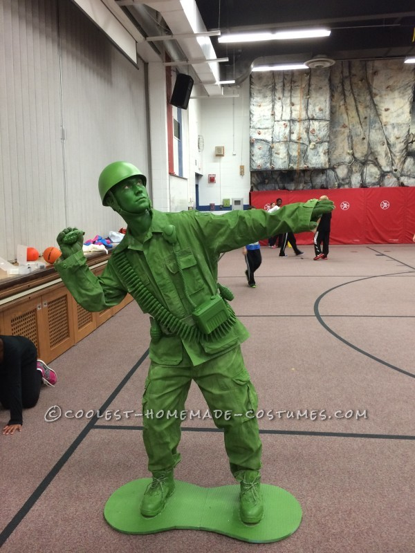 DIY Halloween Costume Idea: A Plastic Toy Soldier Comes to Life!