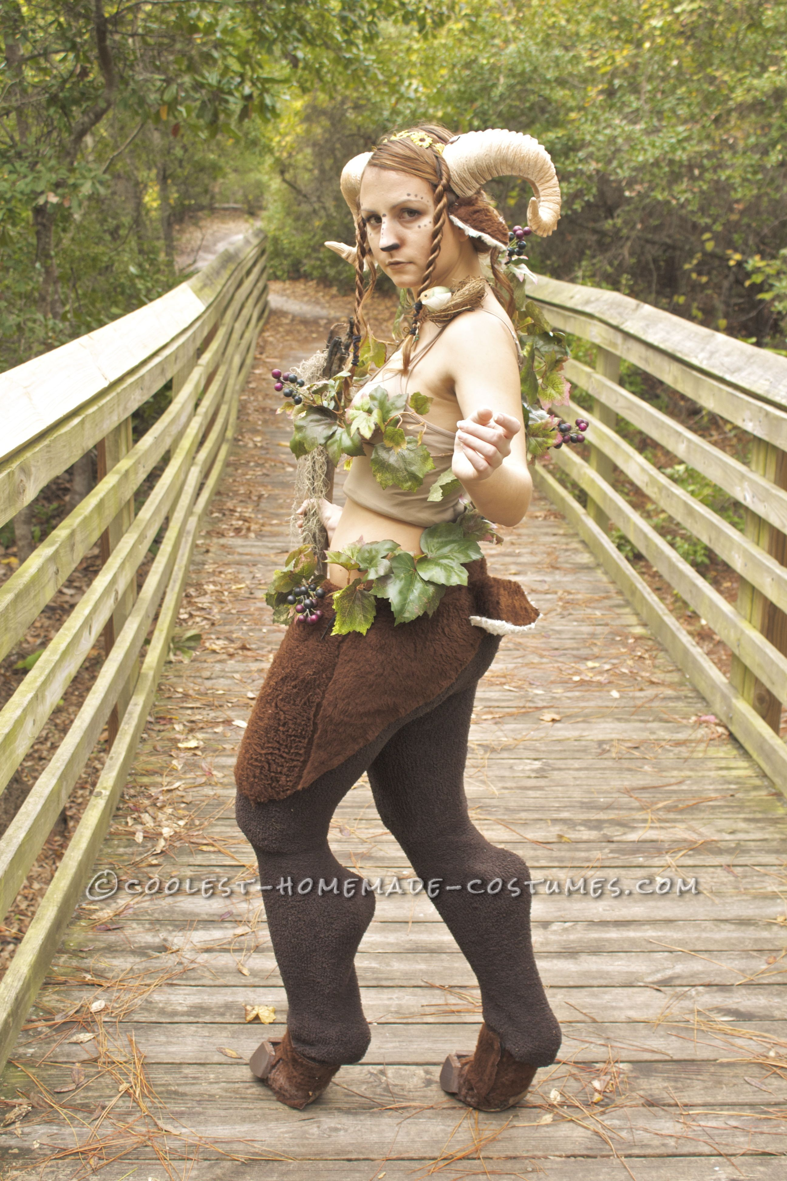 Beautiful Homemade Satyr Costume