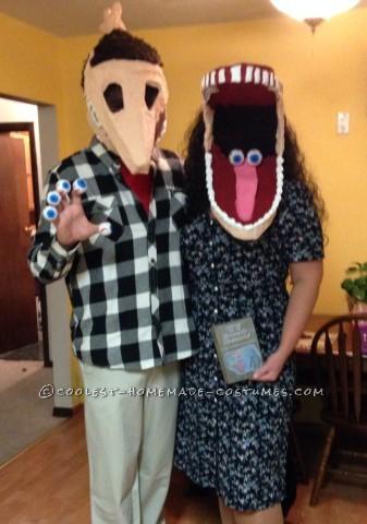 Cool DIY Adam and Barbara Maitland Couple Costume