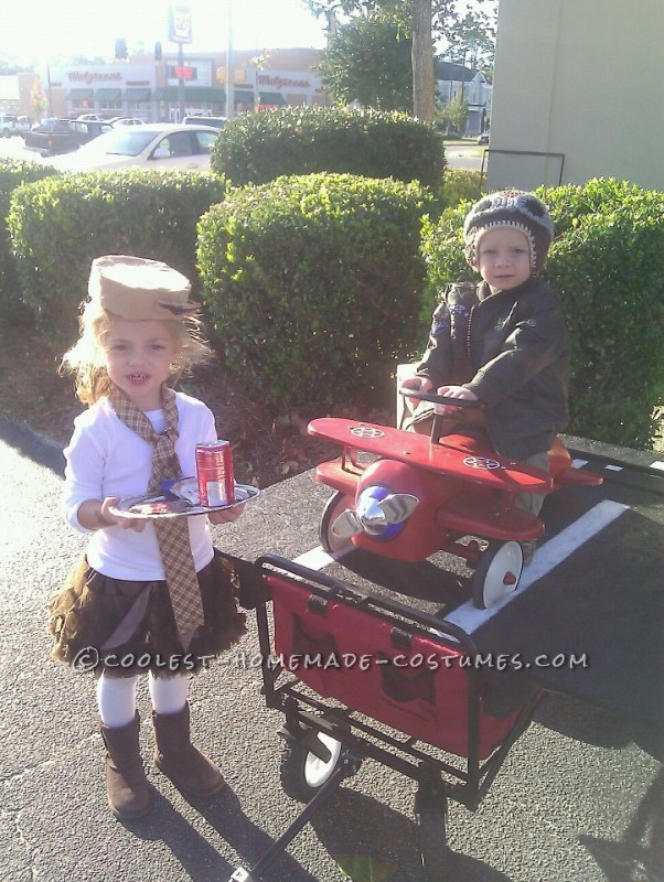 Last-Minute Airplane Pilots and Stewardess Costumes for Kids
