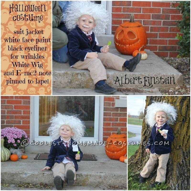 Cool Homemade Albert Einstein Toddler Costume - 1