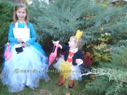 Couple Costume Ida for Girls: Alice in Wonderland and Queen of Hearts - 1