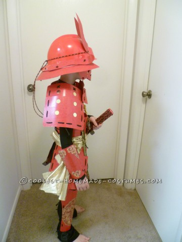 Amazing Handmade Samurai Costume and Armor For 8 Year Old Boy
