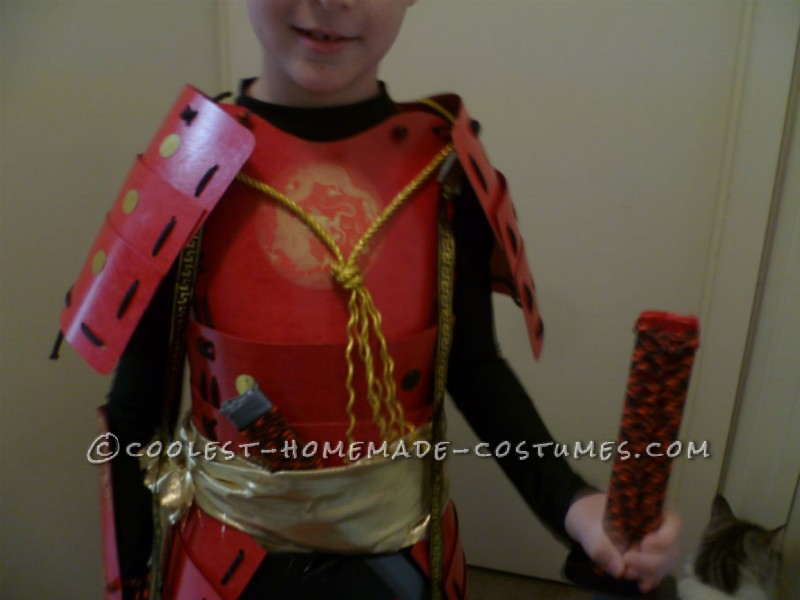Amazing Handmade Samurai Costume and Armor For 8 Year Old Boy - 3