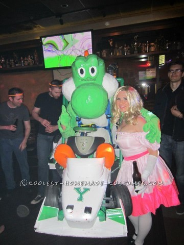Amazing Yoshi Mario Kart Halloween Costume - Entirely Homemade!