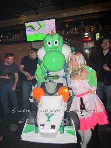 Amazing Yoshi Mario Kart Halloween Costume - Entirely Homemade!