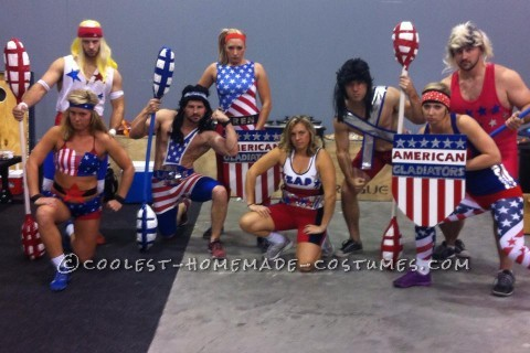 Coolest American Gladiators Group Halloween Costume