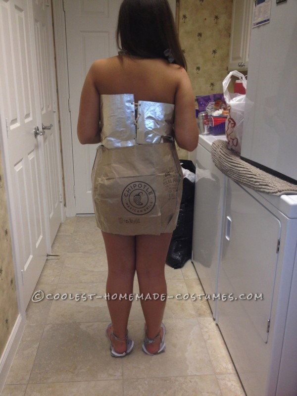 Anything But Clothes (ABC) Party Costume Idea: Chipotle