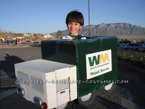 Cardboard Box Garbage Truck Costume