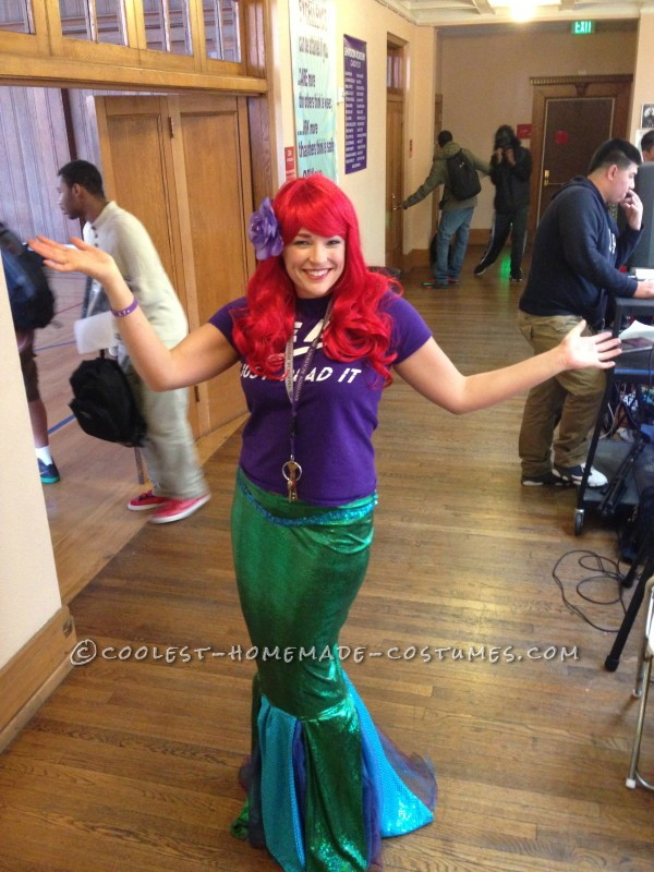 Homemade Ariel Costume (for a High School Principal!) - 8