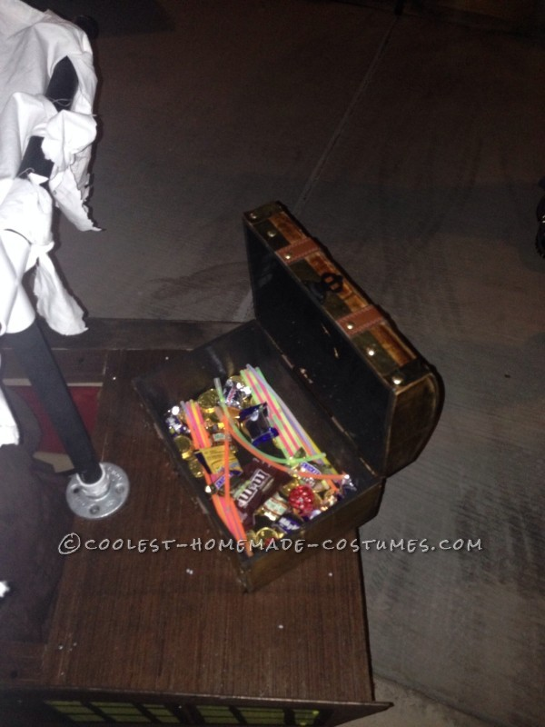 Treasure chest filled with candy/goods
