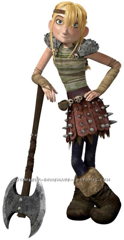 Astrid: Viking Dragon Warrior Costume Homemade for Preschool Age