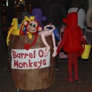 Awesome Barrel of Monkeys Homemade Costume