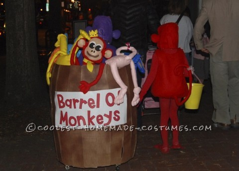 Awesome Barrel of Monkeys Homemade Costume